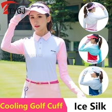 Clothing Arm-Sleeve Sun-Protection Golf-Cooling Women Summer Silk Shawl Shrug Anti-Uv