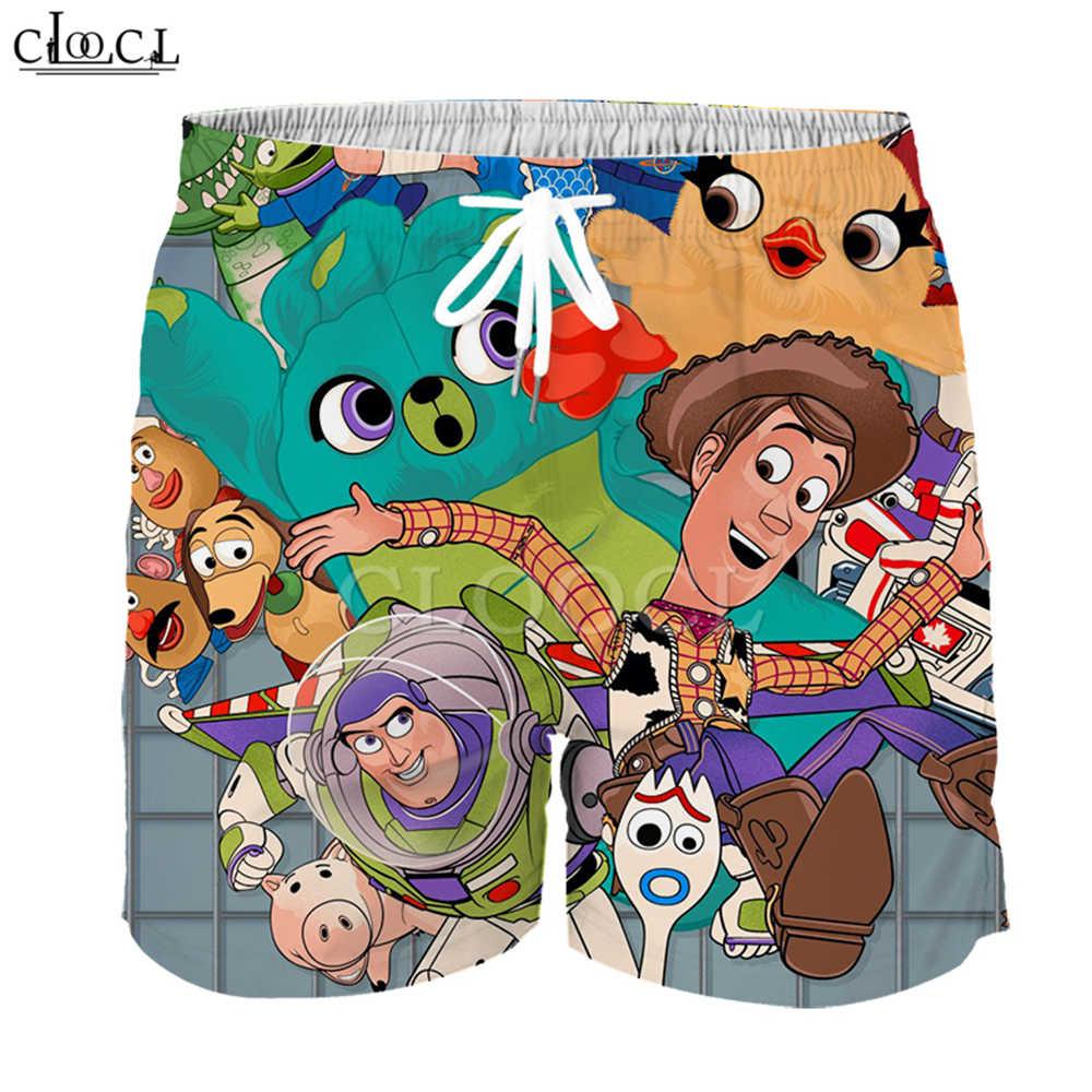 Criança anime brinquedo história 4 a caminhada brinquedos shorts menino menina 3d impressão xerife woody forky bebê menina crianças casuais praia shorts