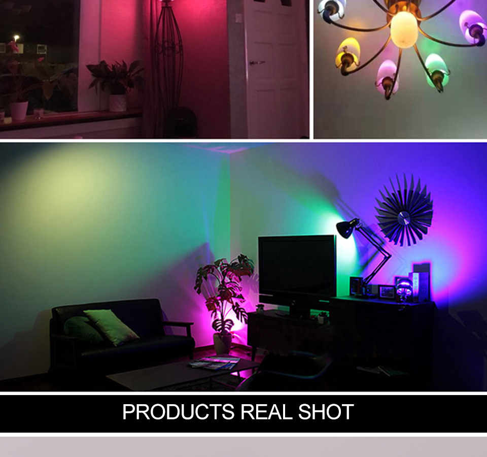FOXGBF E27 RGBW LED Bulb Lights 4W 10W 15W 110V 220V Lampada Changeable Colorful RGB LED Lamp With IR Remote Control  (5)