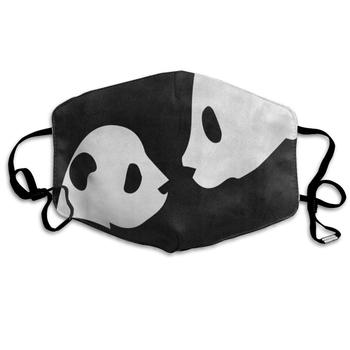 Face Mask Cute Panda Black Customized Cycling Half Face Earloop Mouth Mask for Girls printio panda face