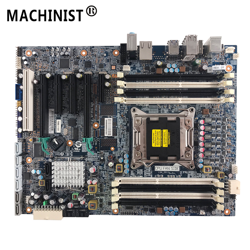 Original For HP Z620 Z420 Server workstation Desktop motherboard MB <font><b>C602</b></font> X79 LGA 2011 ECC DDR3 100% fully Tested Free shipping image