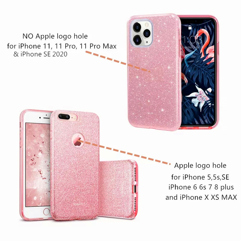 Hda9fd557757c43b0b4e87fa5e024d1de7 - LSDI iPhone 5 5s SE Phone Case Makeup Glitter Sparkle Bling Cover for Girls Women for iPhone 6 6s 7 8 Plus X Xr Xs 11 Pro Max