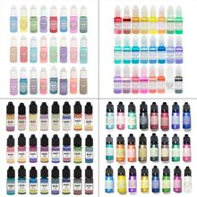 24 Pcs 10ML Crystal Epoxy Resin Pigment UV Resin Coloring Dye Handmade DIY Jewelry Making Art Crafts Liquid Colorant Dropship