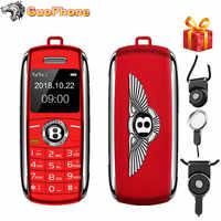 """2019 Nuovo Sbloccato Mini Telefono Mobile 0.66 """"Bluetooth Dialer Mani Mini Telefono MP3 Magic Voice Dual Sim Più Piccolo telefono"""