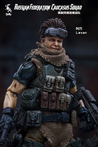 Image 2 - JOYTOY 1/18 figurka żołnierzy (3 sztuk/partia) federacja rosyjska kaukaz model doll darmowa wysyłka