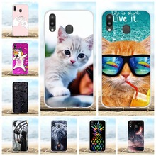 For Samsung Galaxy M20 Case Soft TPU Silicone SM-M205F Cover Cartoon Pattern Shell