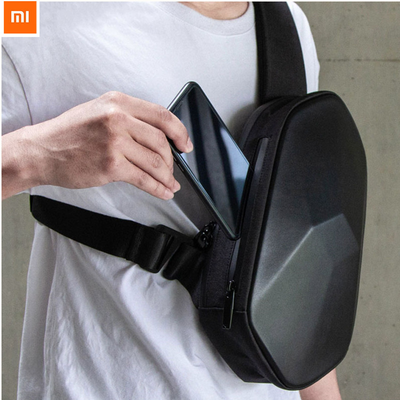 Xiaomi BEABORN Polyhedron PU Backpack Cool Bag Waterproof Fashion Leisure Sports Chest Pack Bags For Men Women Travel Camping