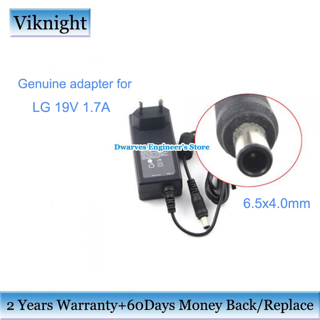 Genuine MONITOR charger 19V 1.7A power supply Adapter for lg FLATRON E2242C MONITOR E2351 IPS277 SCREEN lg monitor power