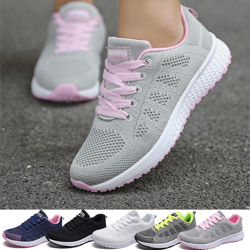 Woman Tennis Shoes Fashion Tenis Feminino Lace-Up White Sport Shoes Female Sneakers Light Breathable Women Flats Outdoor Shoes 1