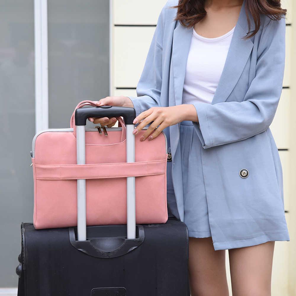 Laamei النساء حقيبة لابتوب دفتر تحمل حالة حقيبة لل ماك بوك الهواء 13.3 14 15.6 بوصة الرجال حقائب الكتف أكياس الماوس