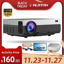 ALSTON T26 serie Full HD 1080P Del Proiettore 6500 Lumen 4K Home Cinema Theater HDMI VGA USB TV T26L t26K proyector con il regalo