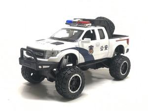 Image 3 - Raptor F150 camioneta de juguete de Metal con sonido de destellos musicales, modelo 1:32, regalo de cumpleaños, Envío Gratis