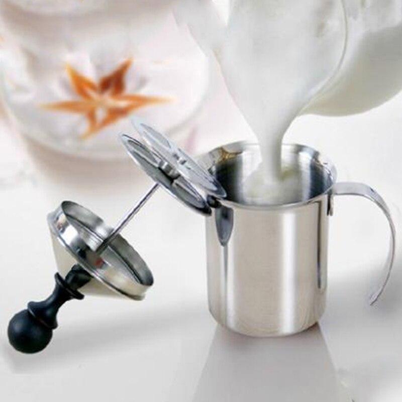 400ml Manual Milk Frother Stainless Steel Mesh Beater Tool Milk Creamer Milk Foam Mesh Coffee Foamer Creamer Coffee Maker
