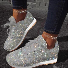 Women Casual Bling Wedges Shoes Thick So