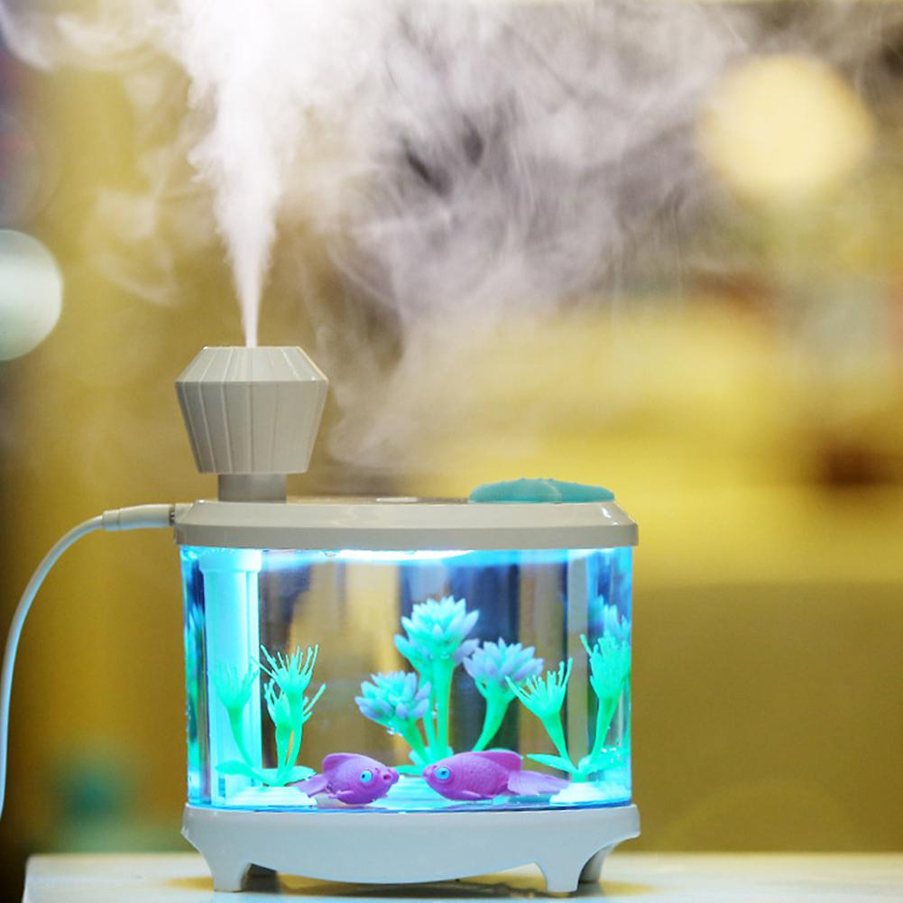 460ML Mini Air Humidifier Essential Oils For Aromatherapy Diffusers Aroma Diffuser USB Humidifiers With LED Light Humidificado