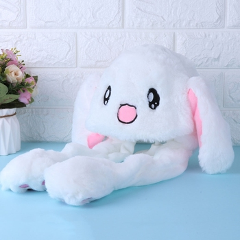 Magic Moving Ear Rabbit Hat Cute Accessories For Party Webcast Play Dancing Selfie Lovely Girl Gift Magic Hat