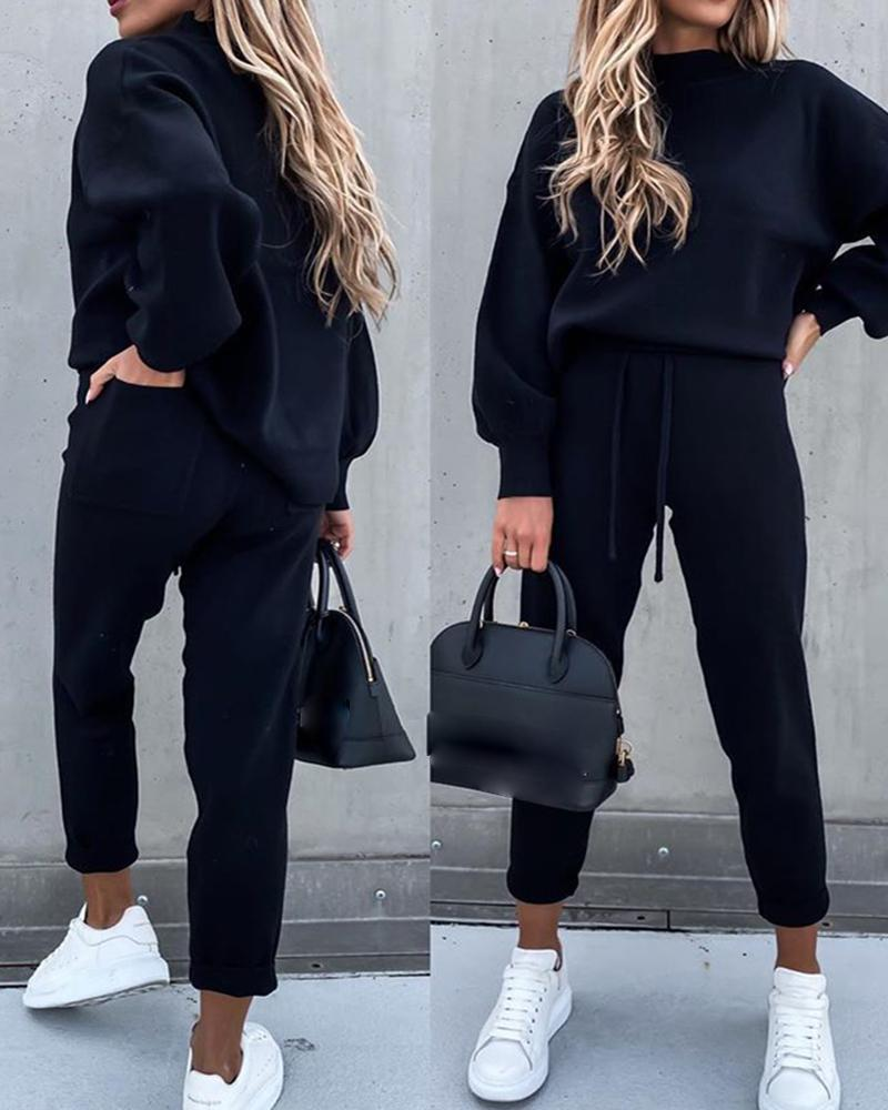 New Autumn Winter Two Piece Tracksuit