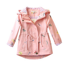 Trench Coat Autumn Spring Children's Outerwear for Baby Girls Girls Tre