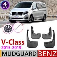 Mudflap para Mercedes Vito Viano Benz V-Classe 2015 ~ 2019 Mudguards Fender Mud Proteção Contra Respingos Flap W447 Acessórios 2016 2017 2018