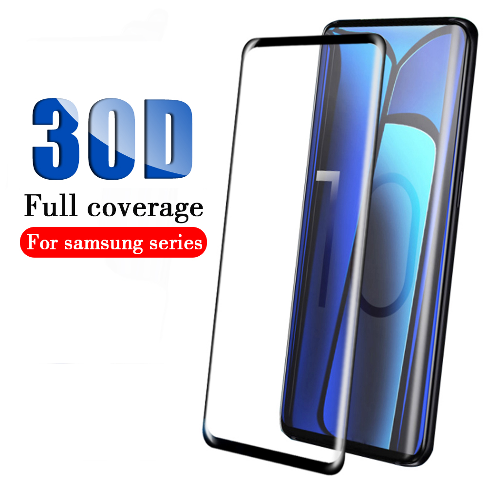 Protector de pantalla 30D para Samsung Galaxy Note 9 vidrio Protector para Samsung Note 8 10 Pro Note10 vidrio templado completo cubierta