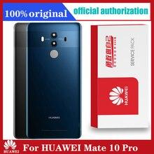 HUAWEI Mate 10 Pro 백 커버 용 기존 백 하우징 교체 카메라 렌즈 접착 스티커가있는 배터리 유리