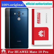 Sostituzione originale della custodia posteriore per HUAWEI Mate 10 Pro Cover posteriore batteria vetro con adesivo adesivo per obiettivo fotocamera