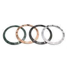 38 мм керамический БЕЗЕЛЬ для наручных часов вставка для 40 мм Мужские часы для лица Сменные аксессуары внутренний диаметр 30,7 мм