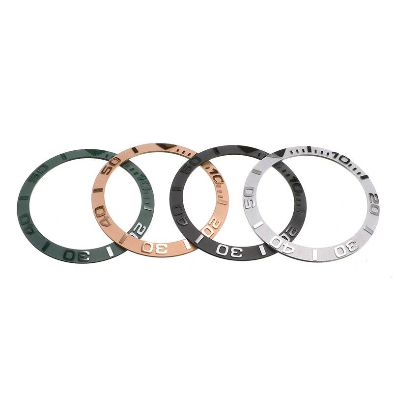 38mm Cerâmica Moldura Relógio de Inserção Para 40 milímetros Mens Watch Relógios Rosto Substituir Acessórios Diâmetro Interno 30.7 milímetros