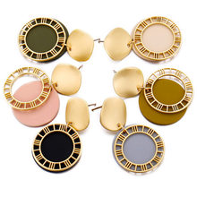 Vintage Fashion Geometric Round Acrylic Dangle Earrings For Women Sequin Drop Earrings Statement Female Jewelry Gift цена