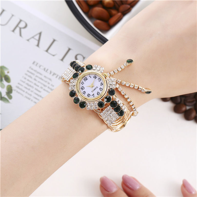 Khorasan Luxury Alloy Fashion Casual Women Watch Creative Fringe Quartz Bracelet Watches 3D13 (9)