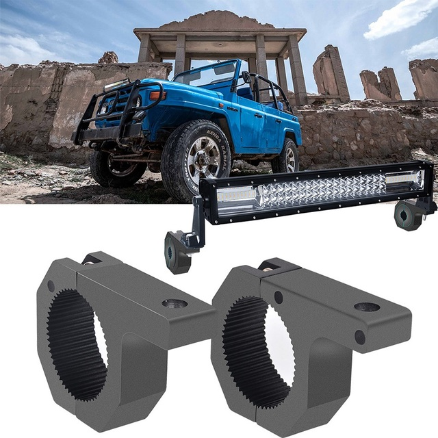 DERI Holder bracket Bull bar Car light mount bumper lamp Clamp stand Offroad Led driving light bar License plateCar Acessories