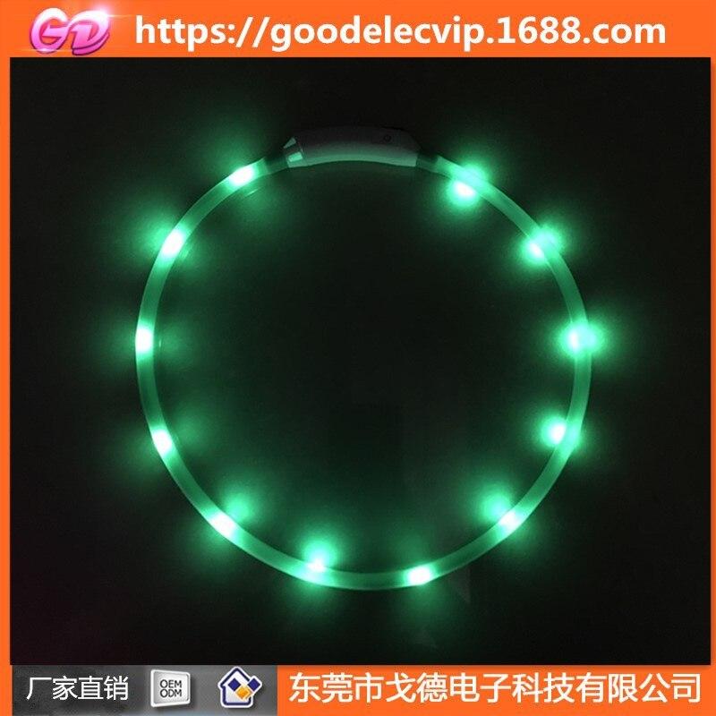USB Luminous Collar Dog Multi-functional Flash Necklace LED Charging Luminous Collar