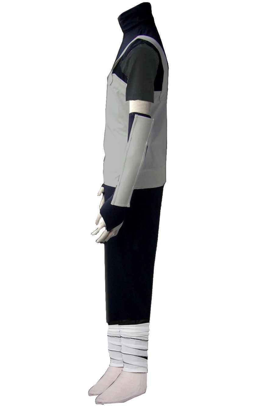 Asli Anime Naruto Cosplay Uchiha Itachi Cosplay Kostum Halloween Pakaian Set Pakaian Pria