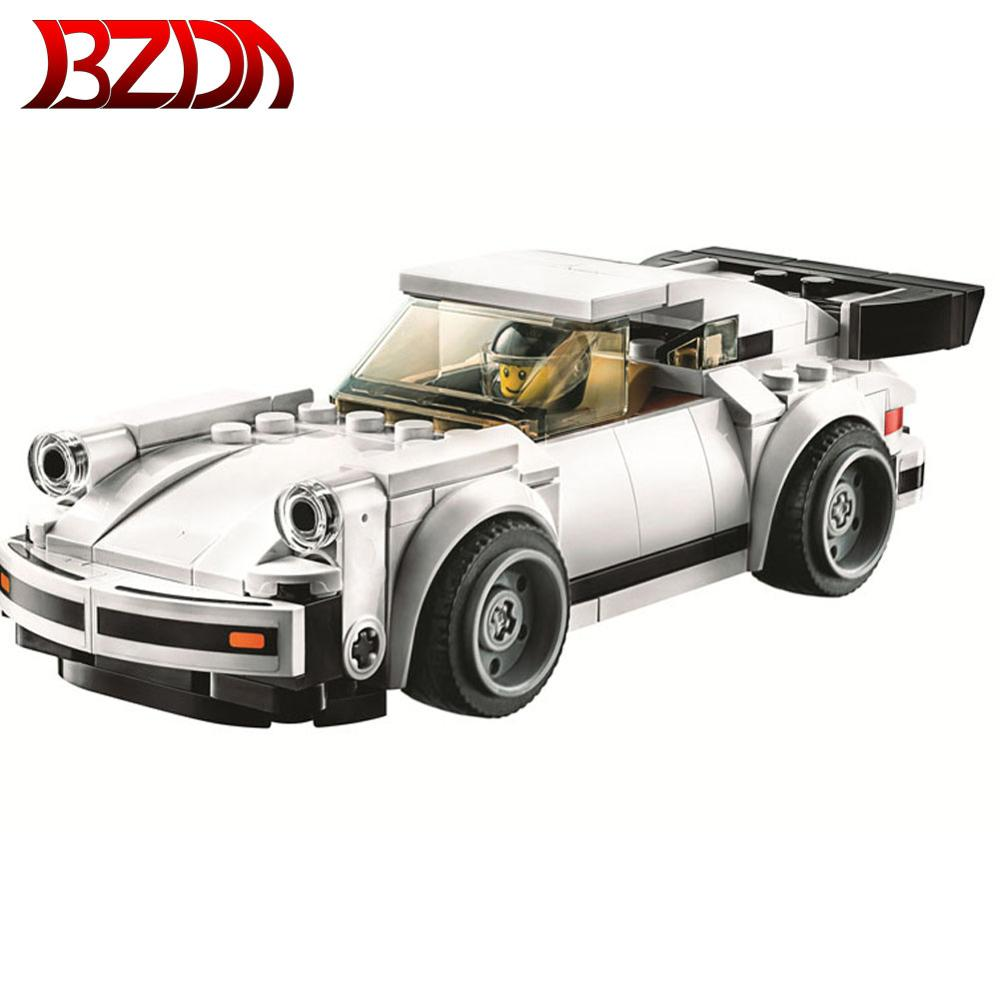 Speed Champions Sports car racing city 186PCS Racing Car Turboed building block Children toys compatible <font><b>75888</b></font> 75895 toy image
