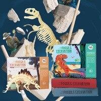 Merlot Children Archeology Dig Dinosaur Fossil T Rex Archeology DIY Assembled Fossil Toy Model