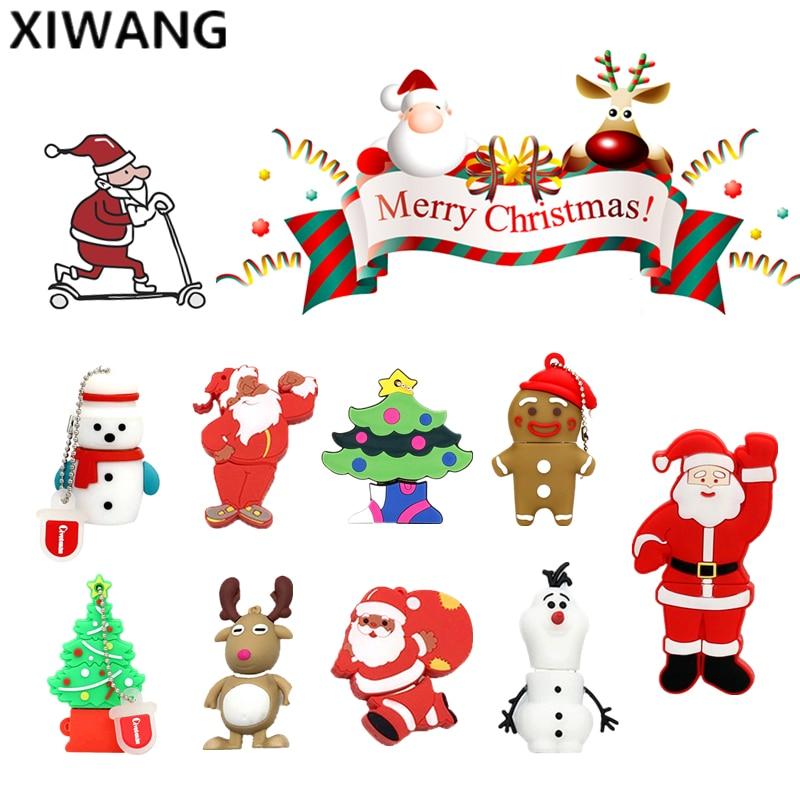XIWANG Christmas cartoon character series usb2.0 4GB 8GB 16GB 32GB 64GB memory stick USB flash drive pendrive disk free shipping