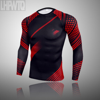 3-piece sets Compression Suits Men's Quick Dry set Clothes Sport Running MMA jogging Gym work out Fitness Tracksuit clothing 10