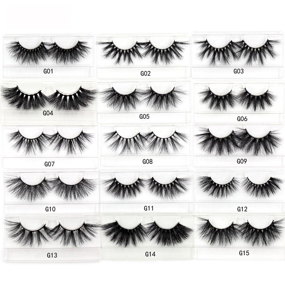 Image 2 - LEHUAMAO 35Pairs/lot  Mink Lashe 3D 25mm Mink Eyelashes Criss cross  Fluffy false eyelashes Popular Lashe Dramatic Eyelashes-in False Eyelashes from Beauty & Health