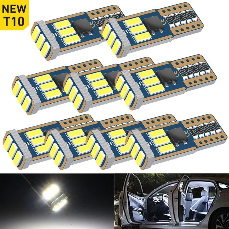 Упаковка из T10 светодиодный 194 168 W5W 9SMD Canbus автомобильный Светильник лампы салона автомобиля Потолочные плафоны светильник s для Хонда цивик ...