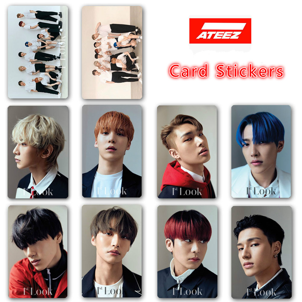 10pcs set Kpop ATEEZ Photo card stickers New album ZERO FEVER HD print Photocard stickers