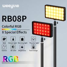 VILTROX Weeylife 2 шт. RB08P RGB 2500 K-8500 K Спортивная мини-видеокамера на светодиодный светильник для заполнения светильник с светильник подставка для телефона Камера съемки в студии