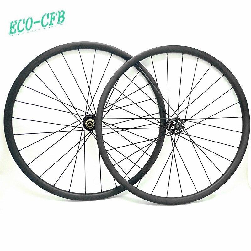Mountain bike wheels disc carbon rims 30x25mm tubeless bicicleta aro 29 wheel novatec D791SB D792SB 110x15 142x12 mtb wheelset