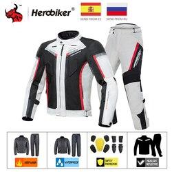 HEROBIKER Motorcycle Jacket Waterproof Winter Cold-proof Motocross Jacket Motorbike Windproof Riding Clothing Protective Gear