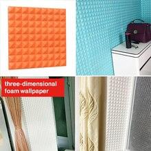 3D Brick Wall Stickers Wallpaper PE Foam Couture TV Background Office DIY Mural Art Collision Avoidance Waterproof
