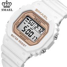 SMAEL – montre numérique pour femmes, étanche, rétro-éclairé, multifonction, petit cadran