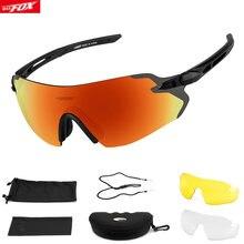 Batfox Поляризованные спортивные Для мужчин солнцезащитные очки