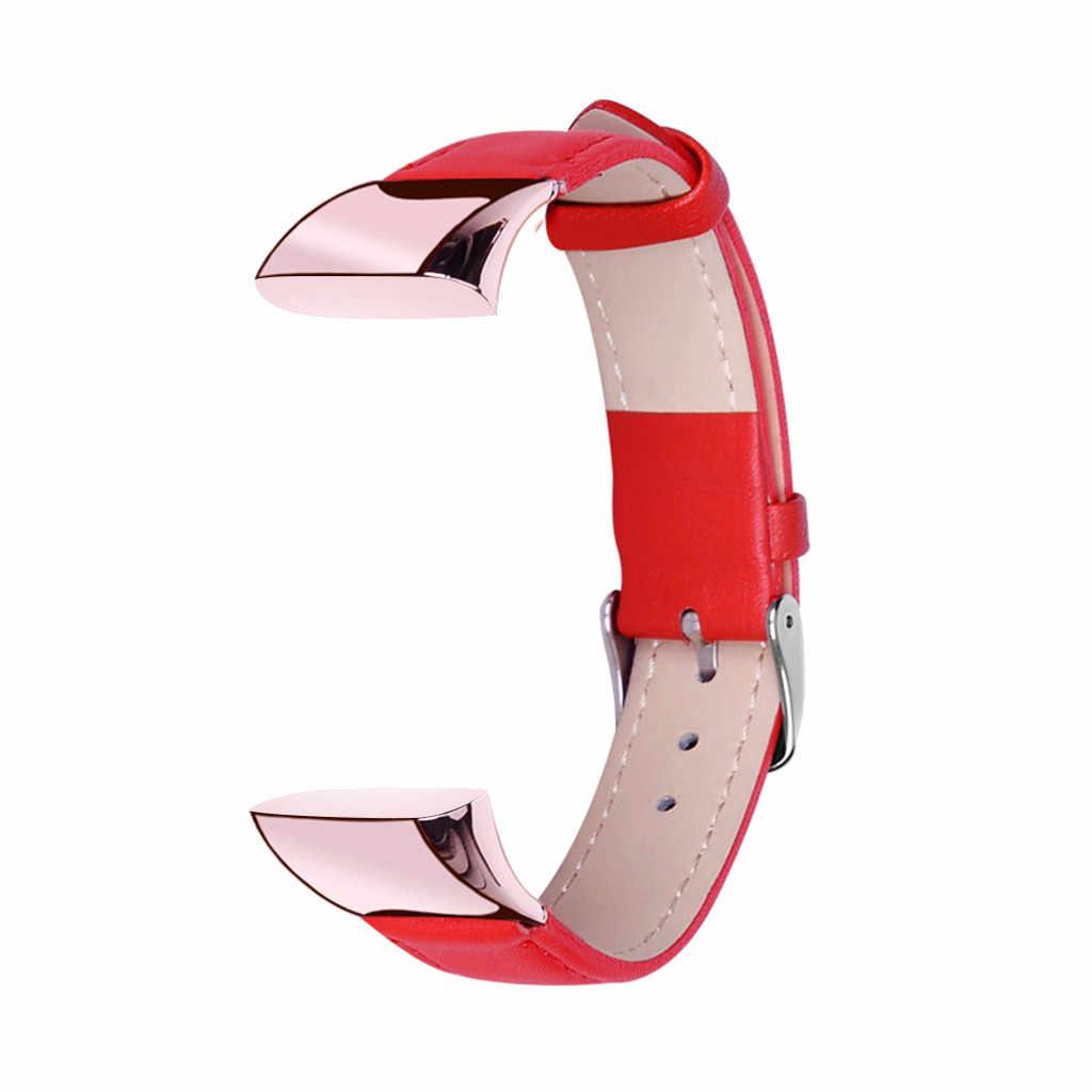 Correa de reloj Ouhaobin para reloj Amazfit COR 2, correa de cuero de repuesto, correa de reloj de pulsera para accesorios de pulsera inteligente