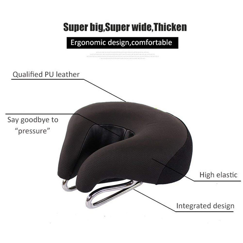 Bicycle Bike Seat Cycling Saddle Cushion High Resilience Breathable Bicycle Mtb Mountain Bike Comfort No Split Nose Saddle Cushi in Bicycle Seat Post from Sports Entertainment