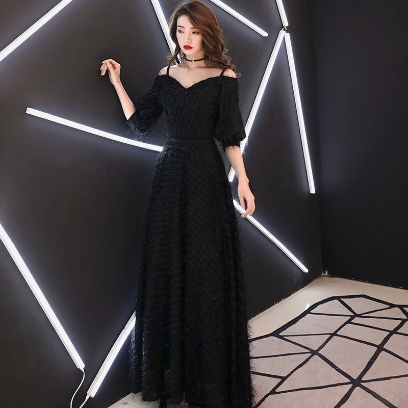 2020 Rushed Vestidos De Madrinas De Bodas Evening Dress 2020 New Spring Temperament Long Noble Thin Annual Meeting Host Woman