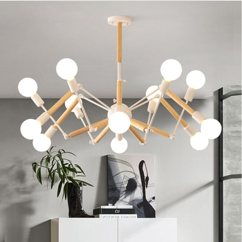 Candelabro LED moderno Vintage araña Lustre E27 iluminación para sala de estar para cocina restaurante candelabros luminaria